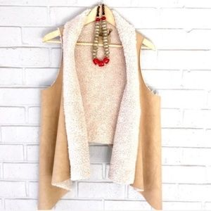 Sale! Sherpa Faux Leather Vest Size L